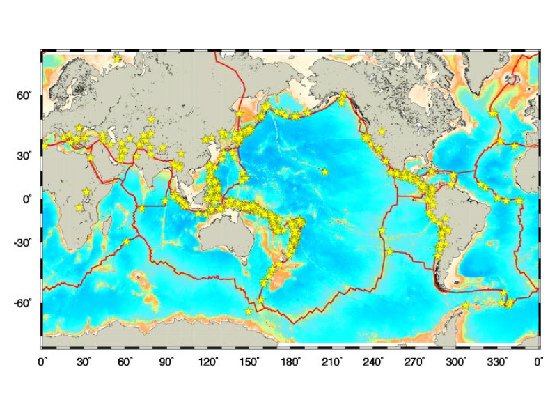 World Earthquake Epicenter Map